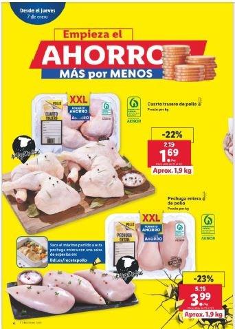 COAG denuncia a LIDL y FAMILY CASH por ofertas de pollo que incumplen la Ley de Cadena Alimentaria