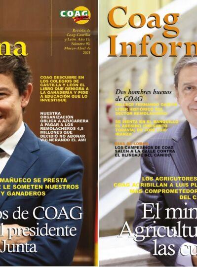 """Fernández Mañueco a COAG: """"Nos hemos adelantado al objetivo de la PAC de rejuvenecer el campo: este año aprobaremos el Plan para la Agricultura y la Ganadería Joven"""""""